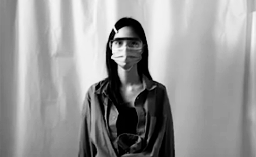 """Video still from """"The Pandemic"""" by Wang Xi '22"""