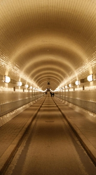 Underground tunnel in Hamburg