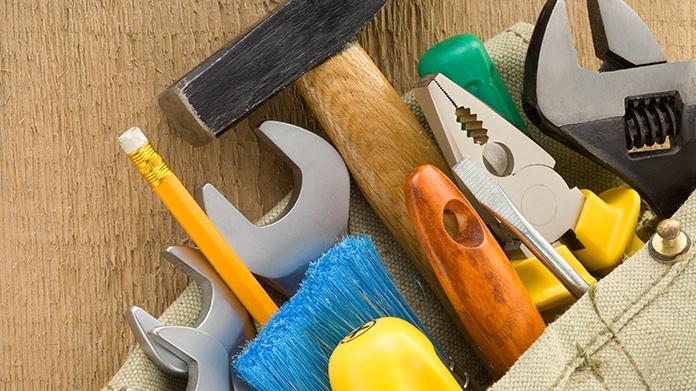 An assortment of tools