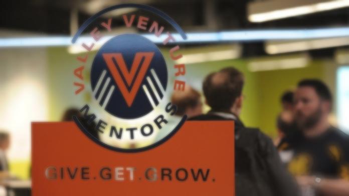 Valley Venture Mentors logo in window
