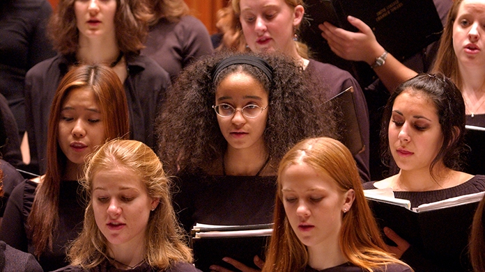 Smith College Chorus in performance
