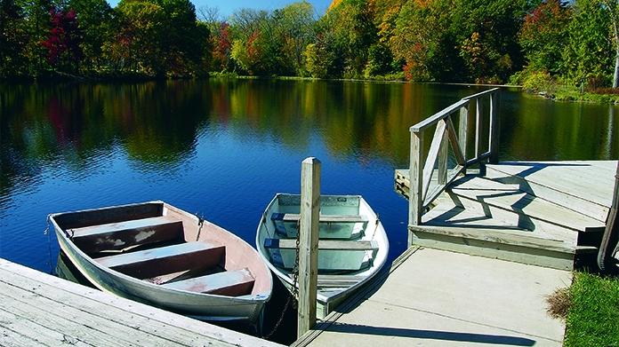 Boathouse scene