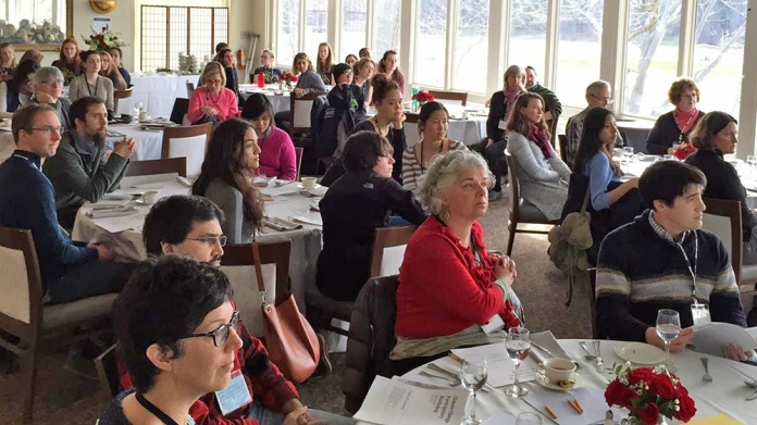 Audience at a workshop of Study Group on Climate Change, Smith College
