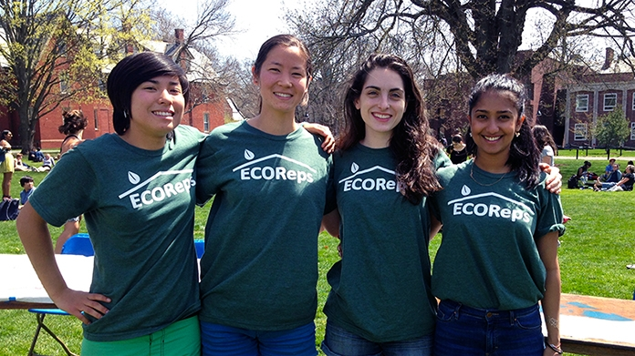 "Four students working for ""EcoReps"""