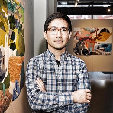 Headshot of Justin Kim, lecturer in art