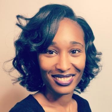 Headshot of Lesley-Ann Giddings, assistant professor of chemistry