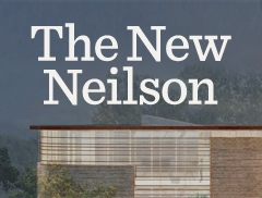 Architectural sketch of the new Neilson Library