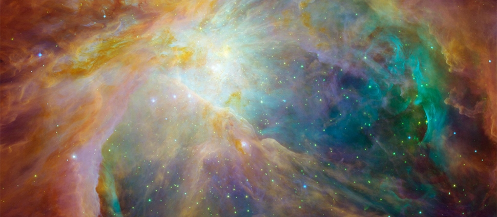 View of the Orion nebula