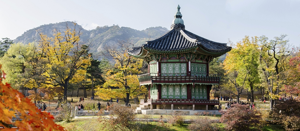 Buddhist temple in Seoul, Korea