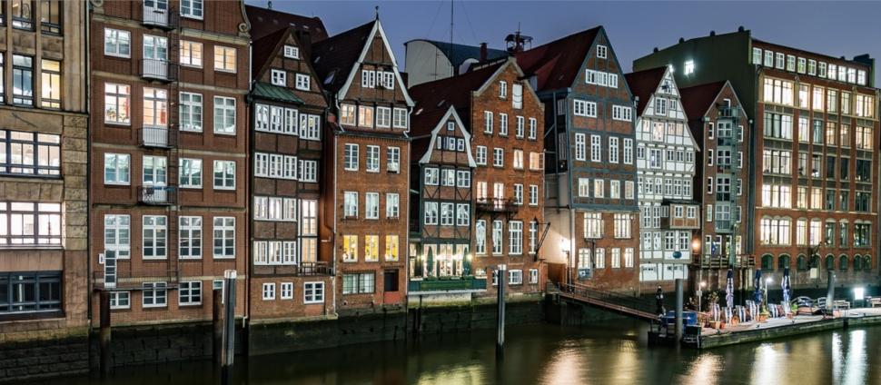 Medeival Houses along River