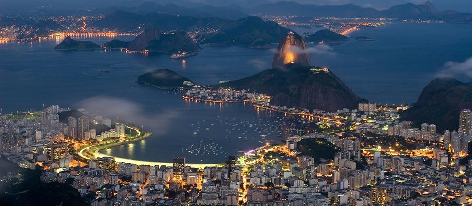 Night sky of Rio de Janeiro, Brazil