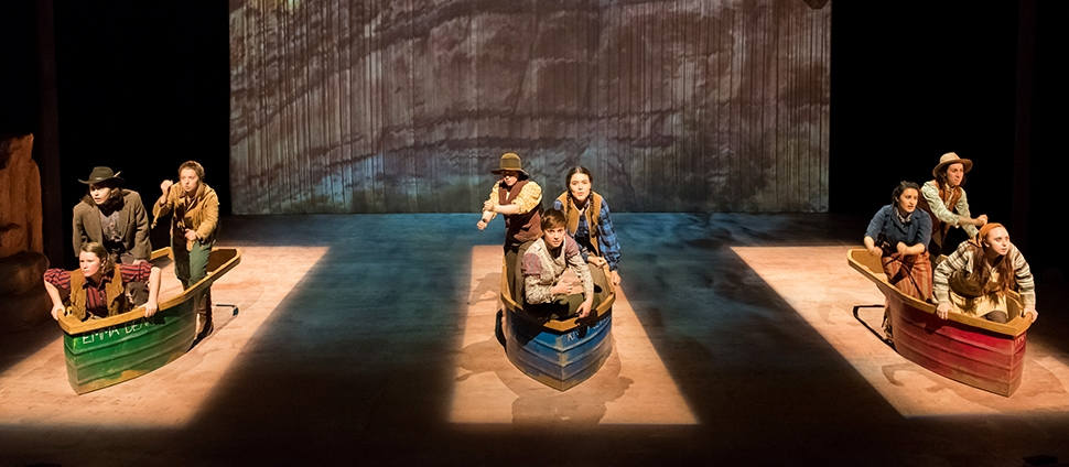 Men in Boats performance in Theatre 14