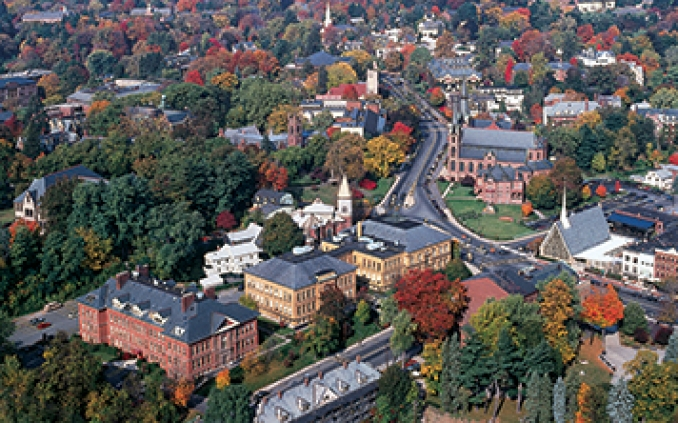 Aerial photo of downtown Northampton