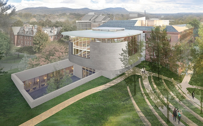 Rendering of the Neilson sunken courtyard