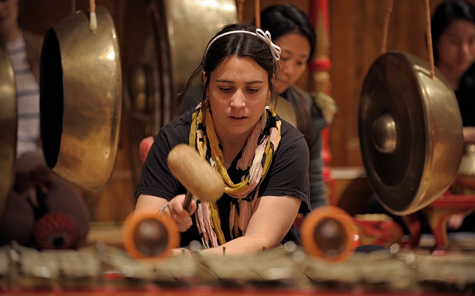 Gamelan ensemble performance