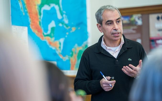 Professor Suleiman Mourad teaching a class