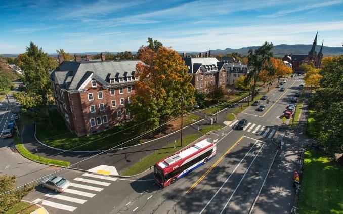 PVTA bus on Elm Street