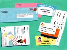 Illustration of identity documents