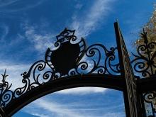 Grecourt Gate emblem against blue sky