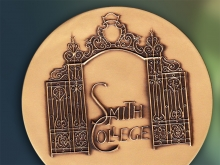 Closeup of the Smith College Medal