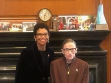 Phoebe Haddon and Ruth Bader Ginsburg