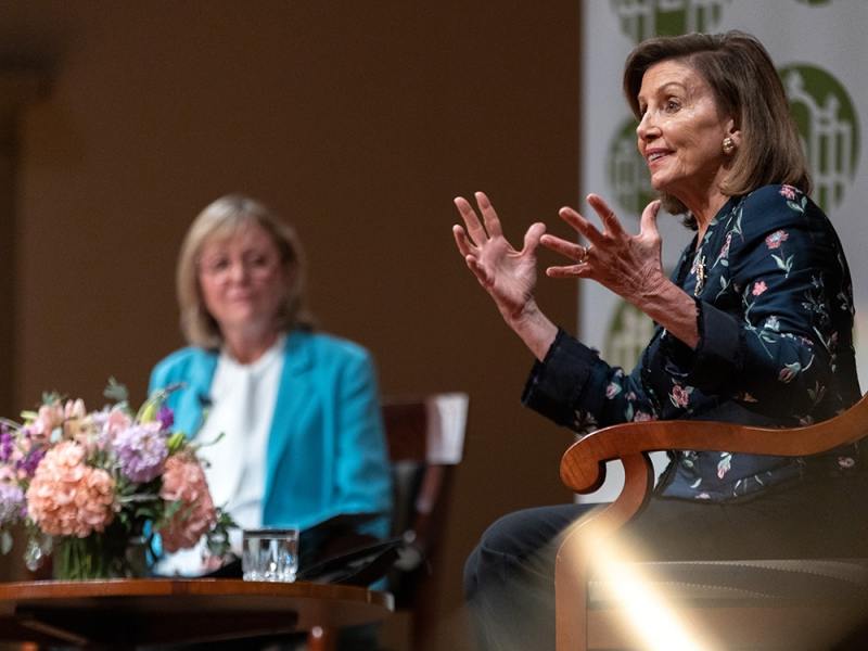 Nancy Pelosi speaks at Smith College