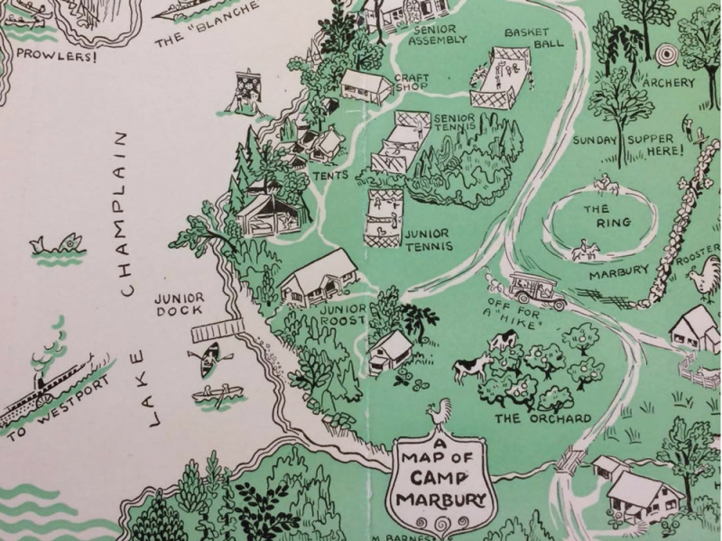Map of camp Marbury