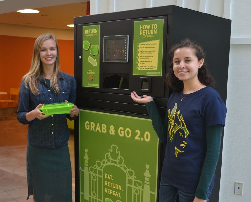 A new vending machine for reusable dining ware.