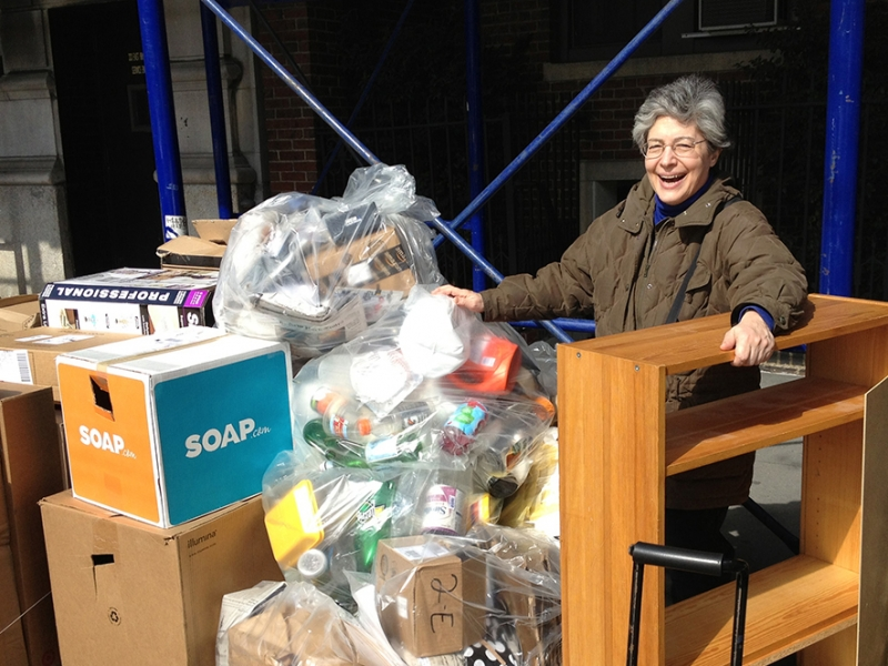 Jacquelyn Ottman discovers a bookcase in the trash