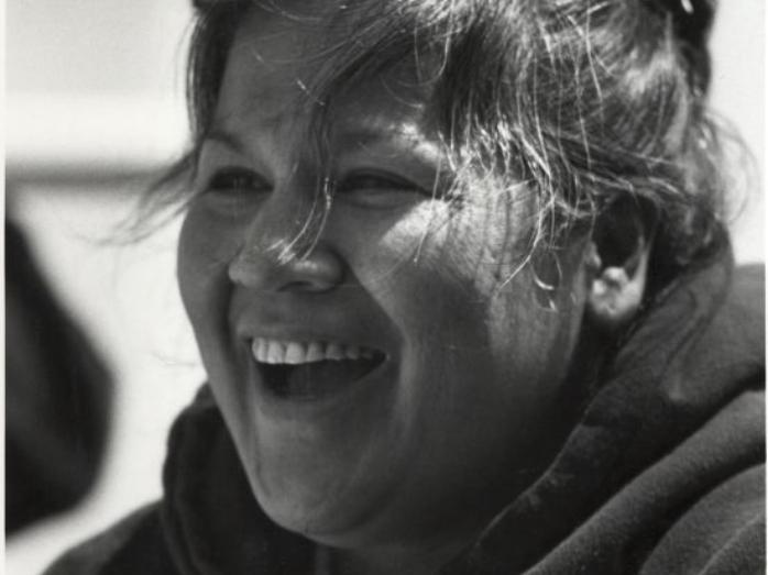 Black-and-white photograph of Katsi Cook