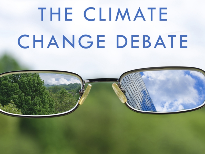 """Book cover """"Climate Change Debate"""""""