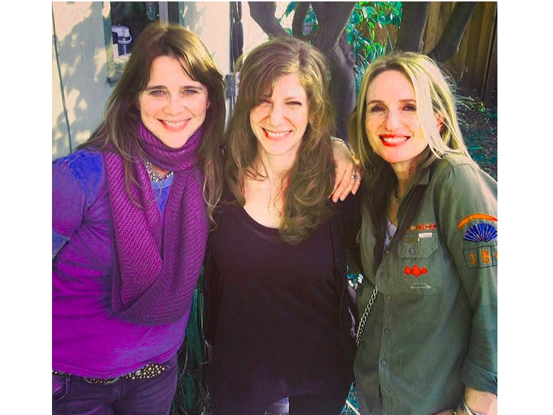 Tanya Pearson flanked by members of the band Veruca Salt