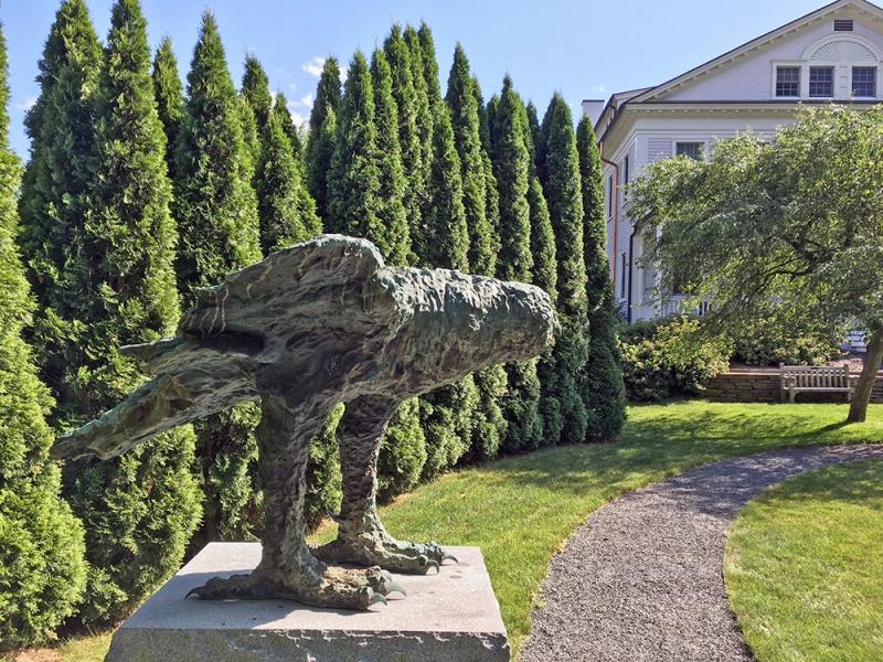 Leonard Baskin's sculpture of an owl