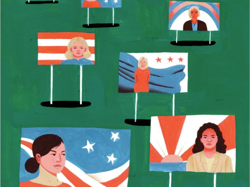 Illustration of political signs