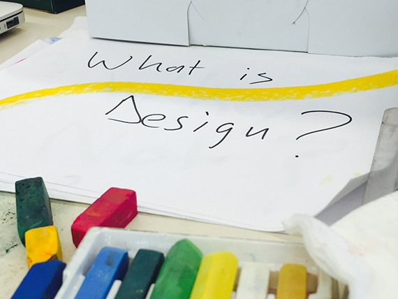 """piece of paper with """"What is design?"""" written on it"""