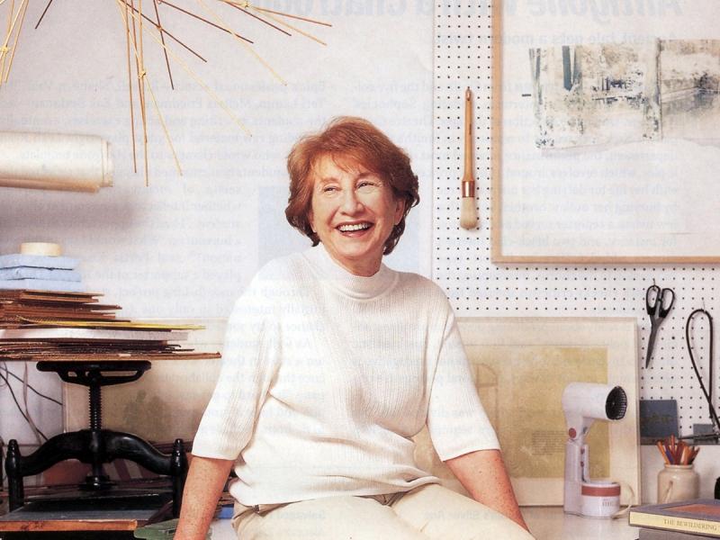 Enid Mark in her studio