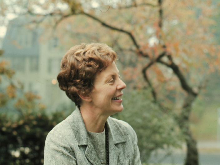 Jill Ker Conway photographed on campus