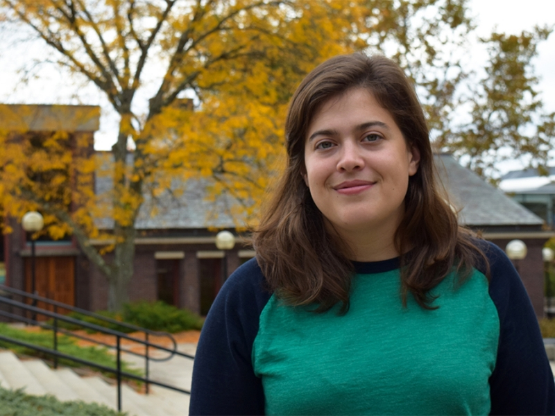 First-year Ada Comstock Scholar Julia Riccardi, one of a small number of Smithies in recent years who have served in the military. Photo by Katherine Bei Heald '18