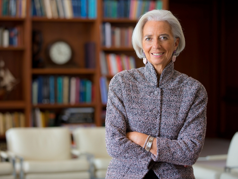 Christine Lagarde portrait