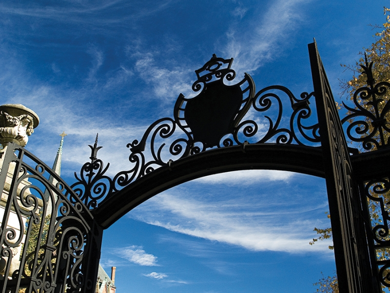 Detail shot of the top of the Grecourt Gates