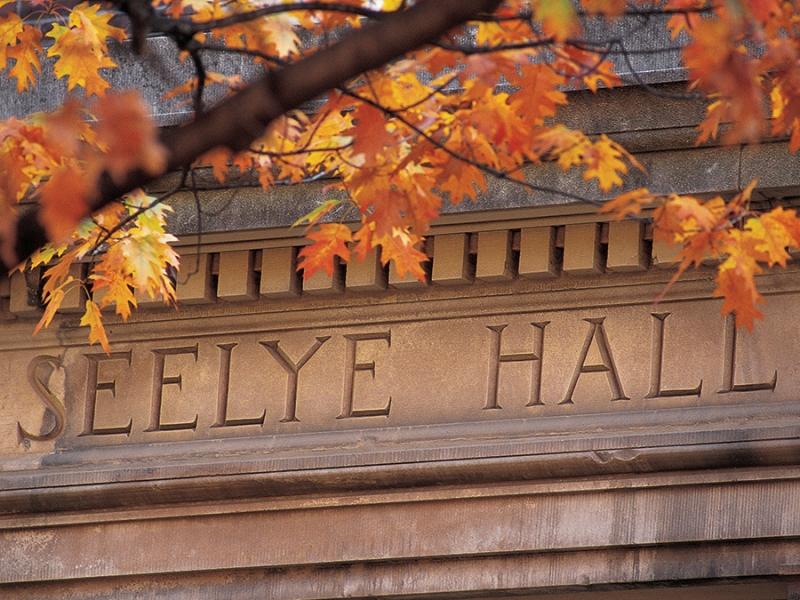 Engraved name on Seelye Hall