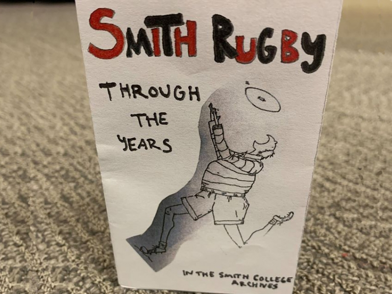 "Cover of a zine, ""Smith rugby through the years"""