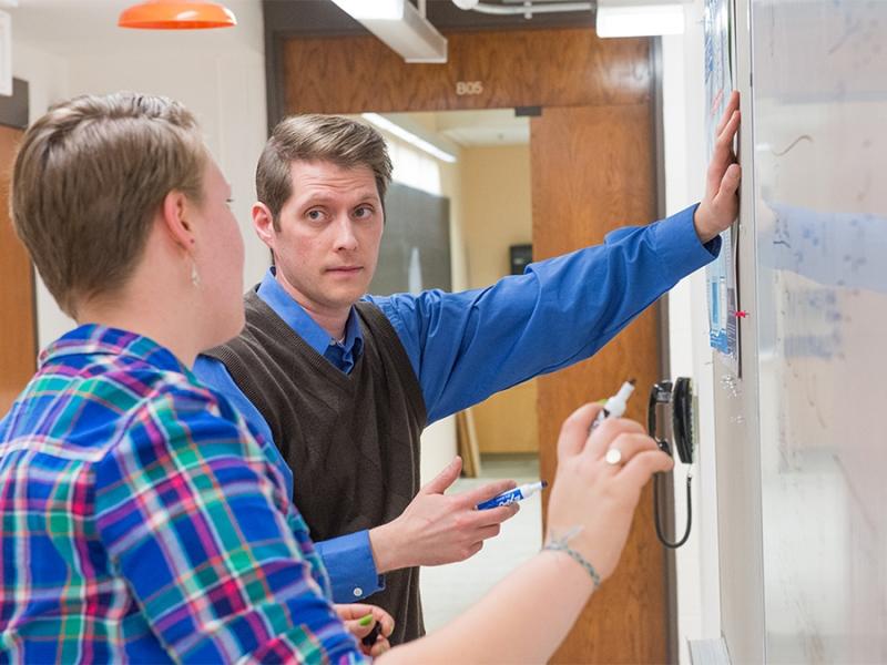 Professor Will Williams in his lab.