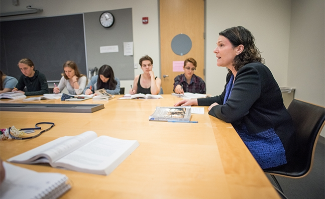 Professor Susan Levin in the classroom