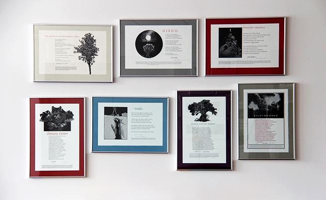 Image of framed poetry broadsides