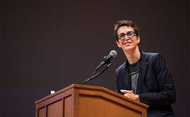 Rachel Maddow at Commencement