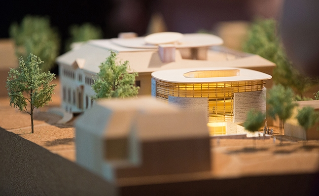 Model of the new Neilson Library