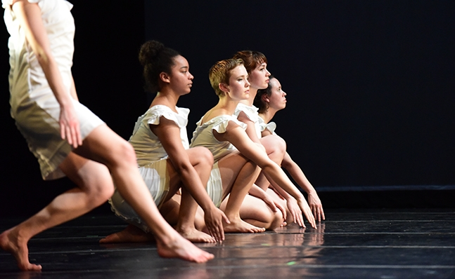 Group of dancers in performance
