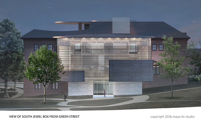 Rendering of Neilson Library from Green Street