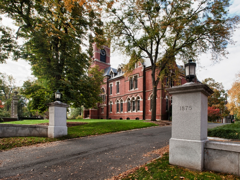 College Hall front drive